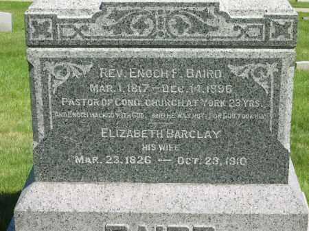 BARCLAY BAIRD, ELIZABETH - Medina County, Ohio | ELIZABETH BARCLAY BAIRD - Ohio Gravestone Photos