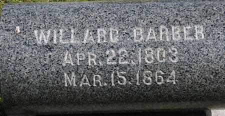 BARBER, WILLARD - Medina County, Ohio   WILLARD BARBER - Ohio Gravestone Photos