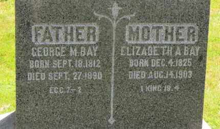 BAY, GEORGE M. - Medina County, Ohio   GEORGE M. BAY - Ohio Gravestone Photos