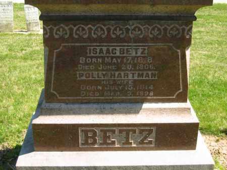 HARTMAN BETZ, POLLY - Medina County, Ohio | POLLY HARTMAN BETZ - Ohio Gravestone Photos