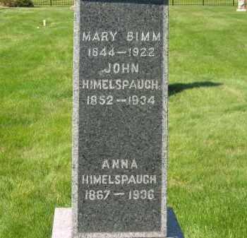 HIMELSPAUGH, ANNA - Medina County, Ohio | ANNA HIMELSPAUGH - Ohio Gravestone Photos