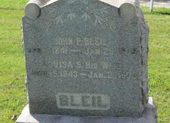 BLEIL, JOHN F. - Medina County, Ohio   JOHN F. BLEIL - Ohio Gravestone Photos