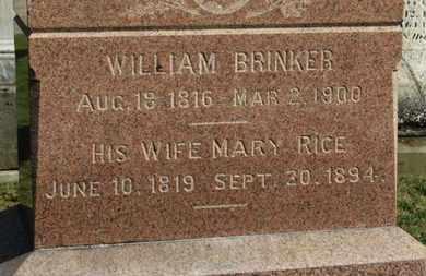 RICE BRINKER, MARY - Medina County, Ohio | MARY RICE BRINKER - Ohio Gravestone Photos