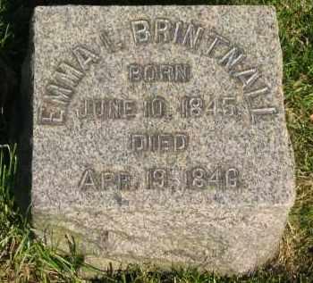 BRINTNALL, EMMA I. - Medina County, Ohio   EMMA I. BRINTNALL - Ohio Gravestone Photos