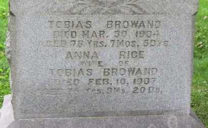 RICE BROWAND, ANNA - Medina County, Ohio | ANNA RICE BROWAND - Ohio Gravestone Photos