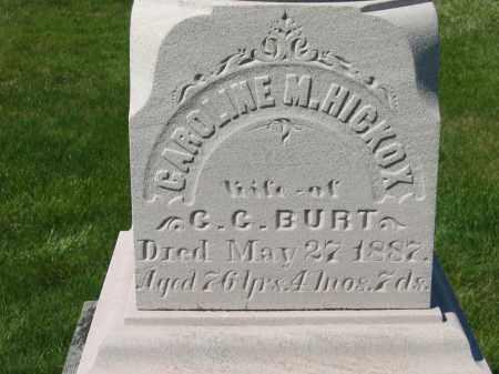 HICKOX BURT, CAROLINE M. - Medina County, Ohio | CAROLINE M. HICKOX BURT - Ohio Gravestone Photos