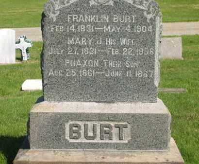BURT, PHAXON - Medina County, Ohio | PHAXON BURT - Ohio Gravestone Photos