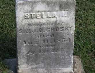 CROSPY, STELLA - Medina County, Ohio   STELLA CROSPY - Ohio Gravestone Photos