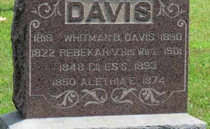 DAVIS, WHITMAN B. - Medina County, Ohio | WHITMAN B. DAVIS - Ohio Gravestone Photos