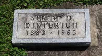 DIETERICH, ALBERT H. - Medina County, Ohio | ALBERT H. DIETERICH - Ohio Gravestone Photos