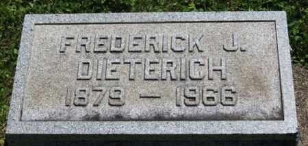 DIETERICH, FREDERICK J. - Medina County, Ohio | FREDERICK J. DIETERICH - Ohio Gravestone Photos