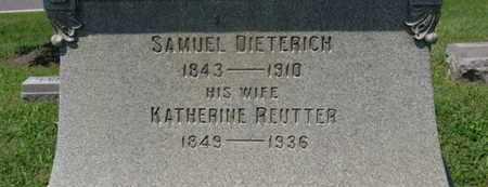 REUTTER DIETERICH, KATHERINE - Medina County, Ohio | KATHERINE REUTTER DIETERICH - Ohio Gravestone Photos