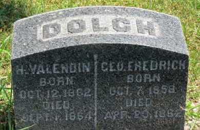 DOLCH, H. VALENDIN - Medina County, Ohio | H. VALENDIN DOLCH - Ohio Gravestone Photos