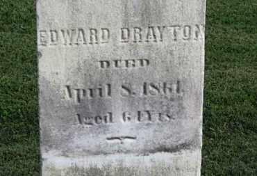 DRAYTON, EDWARD - Medina County, Ohio | EDWARD DRAYTON - Ohio Gravestone Photos