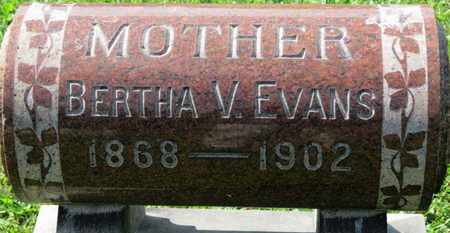 EVANS, BERTHA V. - Medina County, Ohio   BERTHA V. EVANS - Ohio Gravestone Photos