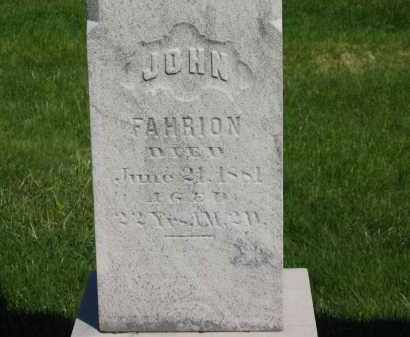 FAHRION, JOHN - Medina County, Ohio   JOHN FAHRION - Ohio Gravestone Photos