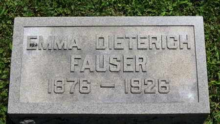 FAUSER, EMMA - Medina County, Ohio | EMMA FAUSER - Ohio Gravestone Photos