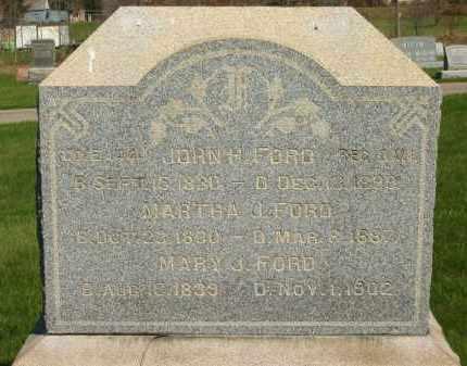 FORD, JOHN H. - Medina County, Ohio | JOHN H. FORD - Ohio Gravestone Photos