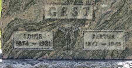 GEST, BERTHA - Medina County, Ohio | BERTHA GEST - Ohio Gravestone Photos