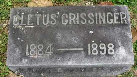 GRISSINGER, CLETUS - Medina County, Ohio | CLETUS GRISSINGER - Ohio Gravestone Photos