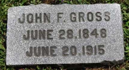 GROSS, JOHN F. - Medina County, Ohio   JOHN F. GROSS - Ohio Gravestone Photos