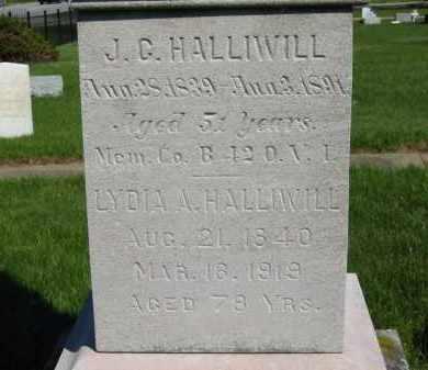 HALLIWILL, J. C. - Medina County, Ohio | J. C. HALLIWILL - Ohio Gravestone Photos