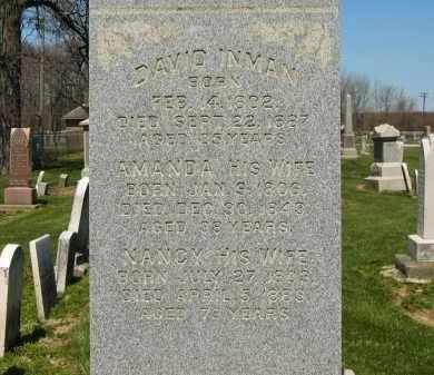 INMAN, DAVID - Medina County, Ohio | DAVID INMAN - Ohio Gravestone Photos
