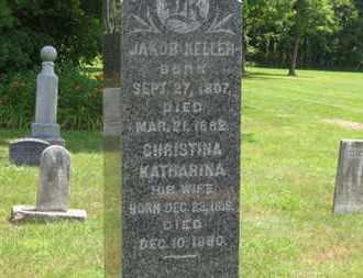 KELLER, CHRISTINA KATHARINA - Medina County, Ohio   CHRISTINA KATHARINA KELLER - Ohio Gravestone Photos
