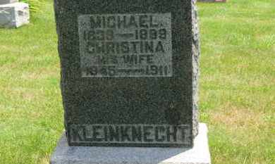 KLEINKNECHT, CHRISTINA - Medina County, Ohio | CHRISTINA KLEINKNECHT - Ohio Gravestone Photos