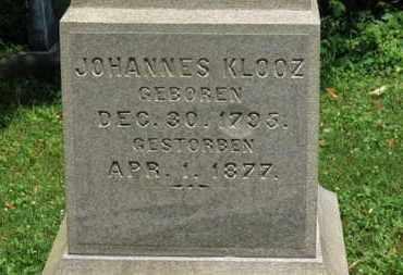 KLOOZ, JOHANNES - Medina County, Ohio | JOHANNES KLOOZ - Ohio Gravestone Photos
