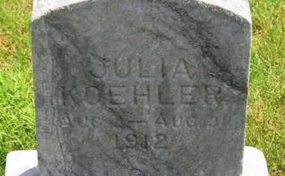 KOEHLER, JULIA - Medina County, Ohio | JULIA KOEHLER - Ohio Gravestone Photos