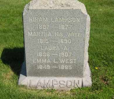 LAMPSON, MARTHA - Medina County, Ohio | MARTHA LAMPSON - Ohio Gravestone Photos