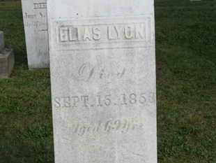 LYON, ELIAS - Medina County, Ohio | ELIAS LYON - Ohio Gravestone Photos