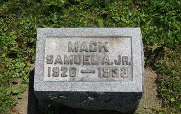 MACK, SAMUEL A. JR. - Medina County, Ohio | SAMUEL A. JR. MACK - Ohio Gravestone Photos