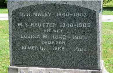 MALEY, H. A. - Medina County, Ohio | H. A. MALEY - Ohio Gravestone Photos