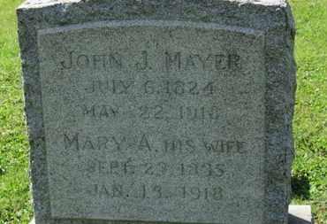 MAYER, MARY A. - Medina County, Ohio   MARY A. MAYER - Ohio Gravestone Photos