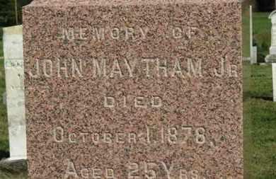 MAYTHAM, JOHN JR. - Medina County, Ohio | JOHN JR. MAYTHAM - Ohio Gravestone Photos
