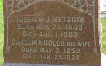 METZGER, ANDREW J. - Medina County, Ohio | ANDREW J. METZGER - Ohio Gravestone Photos