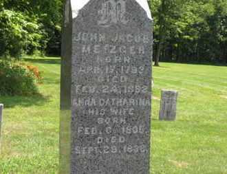 METZGER, JOHN JACOB - Medina County, Ohio | JOHN JACOB METZGER - Ohio Gravestone Photos