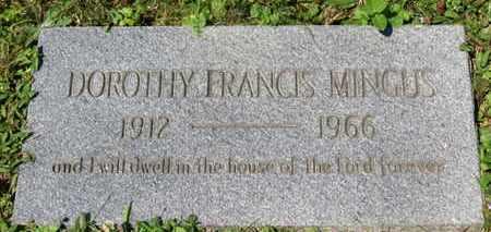 MINGUS, DOROTHY FRANCIS - Medina County, Ohio   DOROTHY FRANCIS MINGUS - Ohio Gravestone Photos