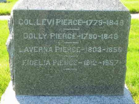 PIERCE, COL. LEVI - Medina County, Ohio | COL. LEVI PIERCE - Ohio Gravestone Photos