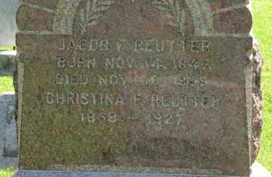 REUTTER, JACOB F. - Medina County, Ohio | JACOB F. REUTTER - Ohio Gravestone Photos