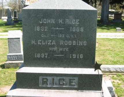 RICE, H. ELIZA - Medina County, Ohio | H. ELIZA RICE - Ohio Gravestone Photos