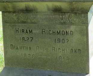 OLIN RICHMOND, DIANTHA - Medina County, Ohio | DIANTHA OLIN RICHMOND - Ohio Gravestone Photos