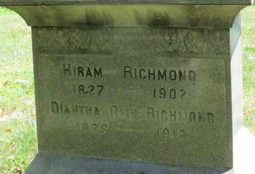 OLIN RICHMOND, DIANTHA - Medina County, Ohio | DIANTHA OLIN RICHMOND - Ohio Gravestone Photos