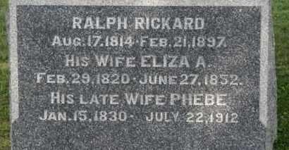 RICKARD, RALPH - Medina County, Ohio   RALPH RICKARD - Ohio Gravestone Photos