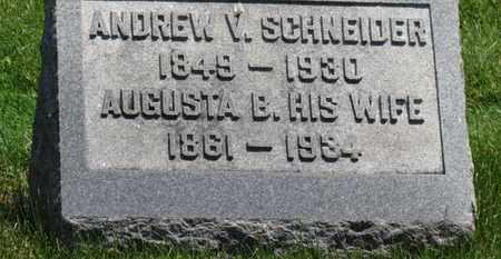 SCHNEIDER, AUGUSTA B. - Medina County, Ohio | AUGUSTA B. SCHNEIDER - Ohio Gravestone Photos