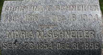 SCHNEIDER, MARIA M. - Medina County, Ohio | MARIA M. SCHNEIDER - Ohio Gravestone Photos