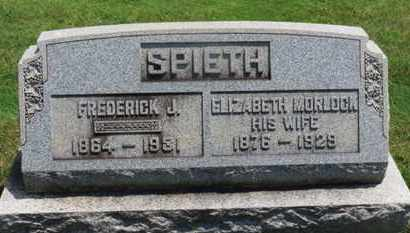 SPIETH, ELIZABETH - Medina County, Ohio | ELIZABETH SPIETH - Ohio Gravestone Photos