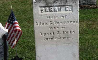 TOWNSEND, SARAH E. - Medina County, Ohio   SARAH E. TOWNSEND - Ohio Gravestone Photos